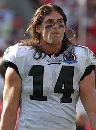 Riley Cooper in pads